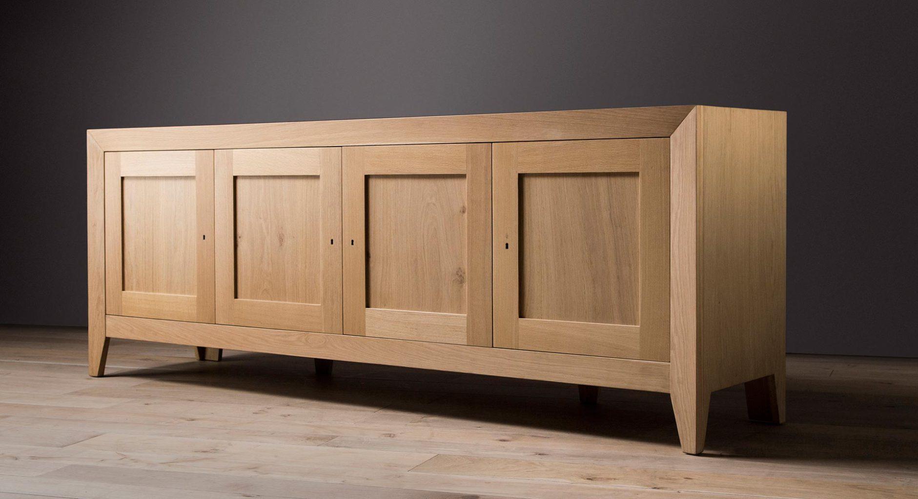 Solid wood Europa sideboard in french oak made by Pierre Cronje