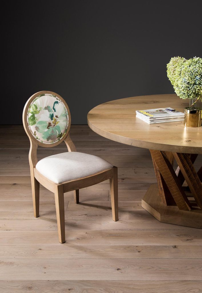 Sandton chair with Forest round table in French Oak