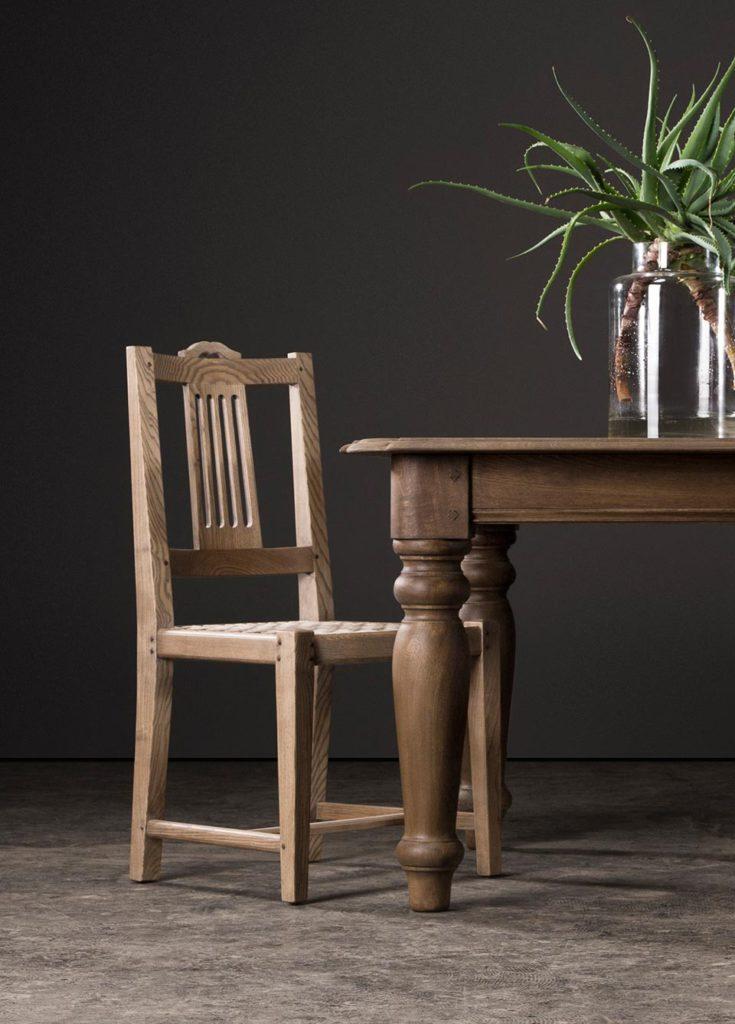 Splat chair in blackwash French Oak