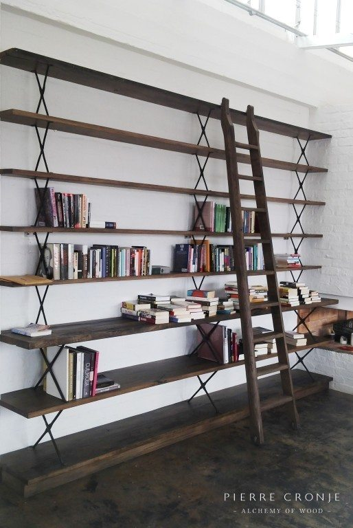 Custom Shelving Unit with Ladder