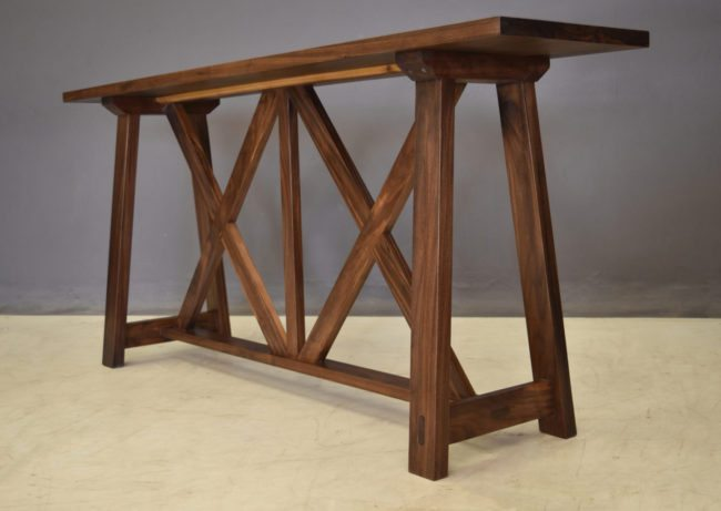 Trestle-style Console In Walnut