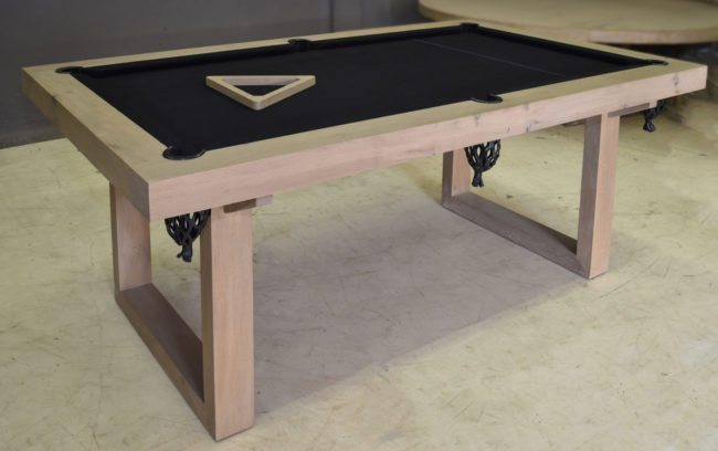 Custom Aquarius Style Pool Table in French Oak