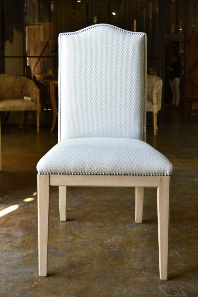 Georgia Upholstered Chair with Stud Detailing