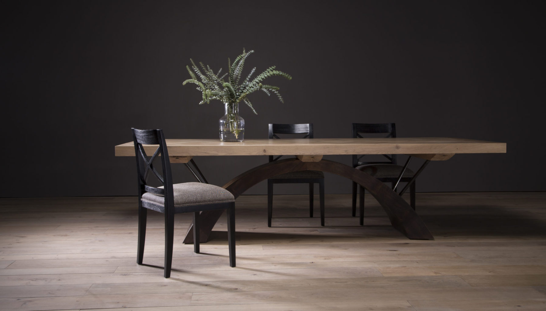 Bloukrans II Dining Table with Cross Back Chairs