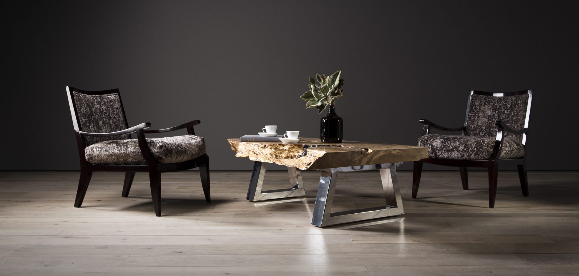 Lansdowne Coffee Table with Ferreira Occasional Chairs