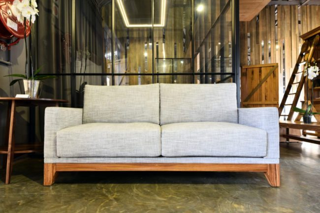 Swallowback Sofa in Zebrano